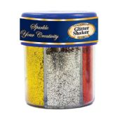 6 Units of 80g / 2.82 Oz. 6 Primary Color Glitter Shaker