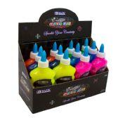 12 Units of 6.76 Oz. (200 mL) Neon Color Glitter Glue