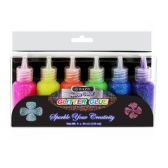 24 Units of 20 ml Neon Color Glitter Glue (6/pack)