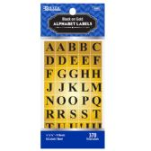 24 Units of Gold Foil Alphabet Label (378/Pack) - Labels ,Cards and Index Cards