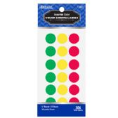 """24 Units of Assorted Color 3/4"""" Round Label (306/Pack) - Labels ,Cards and Index Cards"""