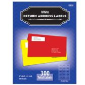 """24 Units of 3/4"""" X 2 1/4"""" White Return Address Labels (300/Pack) - Labels ,Cards and Index Cards"""