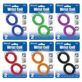 48 Units of Wrist Coil w/ Key Holder (2/Pack) - Key Chains