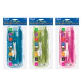 12 Units of Bright Color 9 Pcs. Math Tool Sets - Classroom Learning Aids