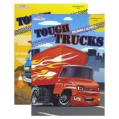48 Units of TOUGH TRUCKS FOIL & EMBOSSED Coloring & Activity Book - Coloring & Activity Books