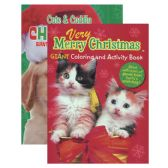 48 Units of KAPPA Puppies & Kittens Christmas Coloring & Activity Book - Coloring & Activity Books