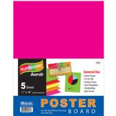 """48 Units of 11"""" X 14"""" Multi Color Fluorescent Poster Board (5/Pack) - Poster & Foam Boards"""