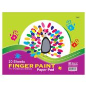 "48 Units of 20 Ct. 16"" X 12"" Finger Paint Paper Pad - Coloring & Activity Books"