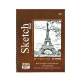 "48 Units of 30 Ct. 8.5"" X 11"" Side Bound Spiral Premium Sketch Book - Notebooks"