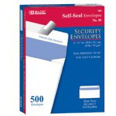 5 Units of #10 Self-Seal Security Envelope (500/Box) - ENVELOPES
