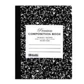 48 Units of C/R 100 Ct. Premium Black Marble Composition Book - Notebooks