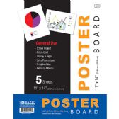 "48 Units of 11"" X 14"" White Poster Board (5/Pack)"