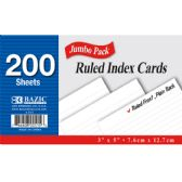 """36 Units of 200 Ct. 3"""" X 5"""" Ruled White Index Card - Labels ,Cards and Index Cards"""