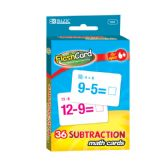 24 Units of Subtraction Flash Cards (36/Pack) - Card Games