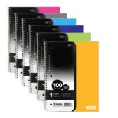 24 Units of C/R 100 Ct. 1-Subject Poly Cover Spiral Notebook - Notebooks