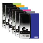 24 Units of W/R 100 Ct. 1-Subject Poly Cover Spiral Notebook - Notebooks