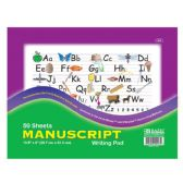 "48 Units of 50 Ct. 10.5"" X 8"" Manuscript Writing Pad - PAPER"