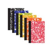 """48 Units of 80 Ct. 5"""" x 7"""" Floral Poly Cover Personal Composition Book - Notebooks"""