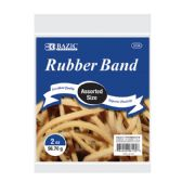 36 Units of 2 Oz./ 56.70 g Assorted Sizes Rubber Bands