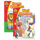 48 Units of SCHOOL ZONE Games & Puzzle Books - Coloring & Activity Books