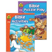 48 Units of SCHOOL ZONE Bible Activities & Puzzle Play Books - Coloring & Activity Books
