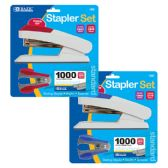 12 Units of Comfort Grip Desktop Stapler Set - Staples and Staplers