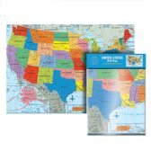 24 Units of Folded U.S. Wall Map - School Supply Kits