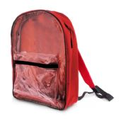 """25 Units of 15"""" Red Clear Front Backpack - Backpacks"""