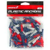 144 Units of 150PC. PLASTIC ANCHORS