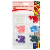 72 Units of SEWING KIT WITH BUTTONS - SEWING BUTTONS