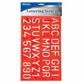 144 Units of LETTER STENCIL - Classroom Learning Aids