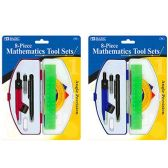 72 Units of 8 PC MATHMATICS TOOL SET IN CASE - Classroom Learning Aids