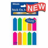 144 Units of NEON COLOR STICK ON NOTES ARROW SHAPED - Sticky Note/Notepads
