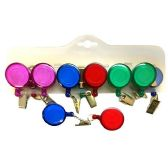 144 Units of RETRACTABLE BADGE HOLDER 4 COLORS 2 INCH 18 INCH PULL OUT WITH BELT CLIP HOLDER