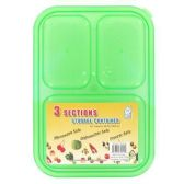 36 Units of 3 SECTION LUNCH BOX SET