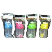 24 Units of PLASTIC WATER BOTTLE WITH POP UP STRAW - Drinking Water Bottle