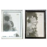 576 Units of PLASTIC PHOTO FRAME 5 X 7 2 SILVER SHADES, 5X7 INCH