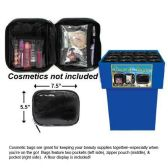 72 Units of TRAVEL BAGS WITH ZIPPER POUCH 7.5 INCH BY 5.5 INCH - Travel
