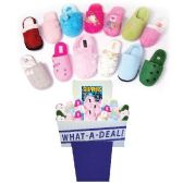 36 Units of WOMEN FLEECE SLIPPERS ASSORTED STYLES + SIZES