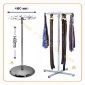 1 Units of 18 HOOKS FLOOR BELT+TIE RACK WITH H140MM X W460MM