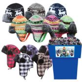 48 Units of TROOPER HATS W BLACK FUR 48PC 6 ASST STYLES AND COLORS