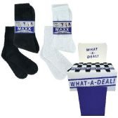 240 Units of 2 PACK CREW SOCKS WHITE, GREY+ BLACK SIZES 9-11 TO 10-13