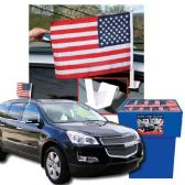 100 Units of USA CAR FLAGS 100 PER DISPLAY