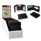 36 Units of LEATHER WALLETS ASST COLORS 18 PC PER COUNTER DISPLAY