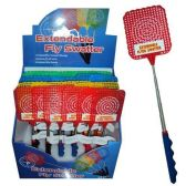 96 Units of EXTENDABLE FLY SWATTER 7-27 INCH TELESCOPIC STAINLESS STEEL 24 - DISPLAY - Fly Swatters