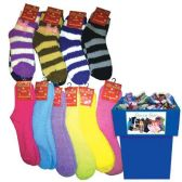 96 Units of COZY SOCKS 96PC ASSORTED STYLES + COLORS