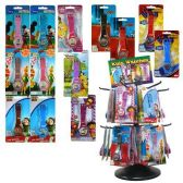 144 Units of LICENSED KIDS WATCHES 12 ASSORTED WITH SPINNER RACK + CLIP STRIPS