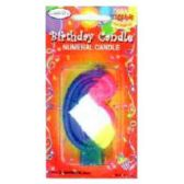 144 Units of B-DAY CAKE CANDLE RAINBOW #6 - Birthday Candles
