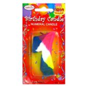 144 Units of B-DAY CAKE CANDLE RAINBOW #7 - Birthday Candles