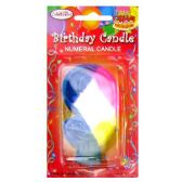 144 Units of B-DAY CAKE CANDLE RAINBOW #9 - Birthday Candles